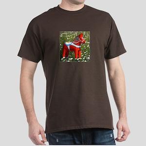 Horse in Flowers Dark T-Shirt