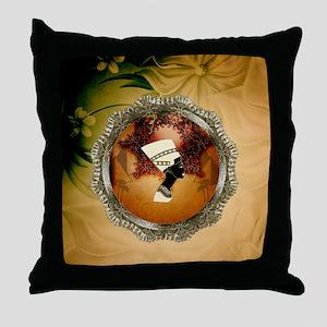 Isis, egyttian design Throw Pillow