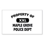 Property of Maple Grove PD Rectangle Sticker