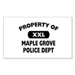 Property of Maple Grove PD Rectangle Sticker 50 p