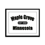 Maple Grove Established 1858 Framed Panel Print