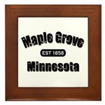 Maple Grove Established 1858 Framed Tile