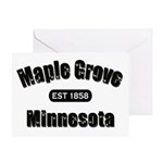 Maple Grove Established 1858 Greeting Card