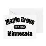 Maple Grove Established 1858 Greeting Cards (Pk of