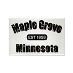 Maple Grove Established 1858 Rectangle Magnet