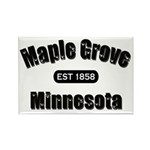 Maple Grove Established 1858 Rectangle Magnet (100