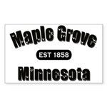 Maple Grove Established 1858 Rectangle Sticker
