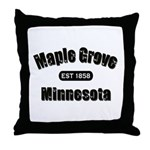 Maple Grove Established 1858 Throw Pillow