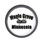 Maple Grove Established 1858 Wall Clock