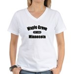 Maple Grove Established 1858 Women's V-Neck T-Shir