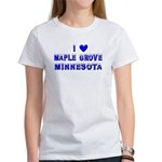 I Love Maple Grove Winter Women's T-Shirt