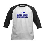 I Love Maple Grove Winter Kids Baseball Jersey