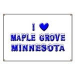 I Love Maple Grove Winter Banner