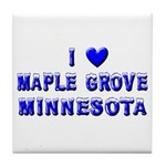 I Love Maple Grove Winter Tile Coaster