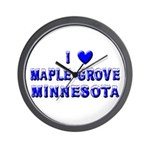 I Love Maple Grove Winter Wall Clock