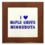 I Love Maple Grove Winter Framed Tile