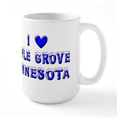 I Love Maple Grove Winter Large Mug