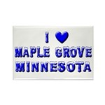 I Love Maple Grove Winter Rectangle Magnet