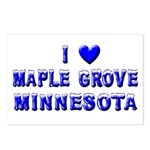 I Love Maple Grove Winter Postcards (Package of 8)