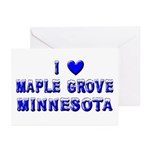 I Love Maple Grove Winter Greeting Cards (Pk of 10