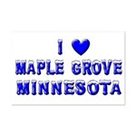 I Love Maple Grove Winter Mini Poster Print