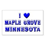 I Love Maple Grove Winter Rectangle Sticker 50 pk
