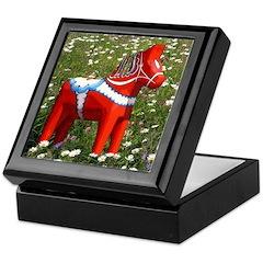 Horse in Flowers Keepsake Box
