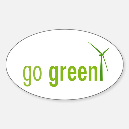 Go Green Oval Decal
