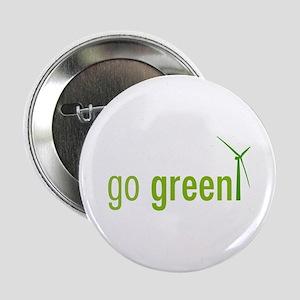 """Go Green 2.25"""" Button"""