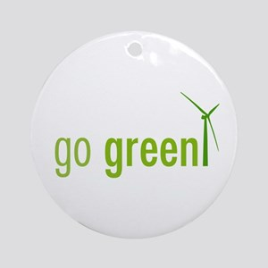 Go Green Ornament (Round)