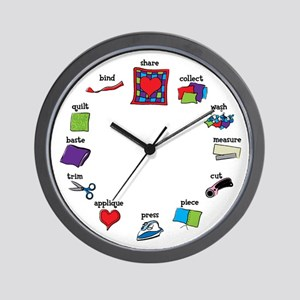 Quilter's Wall Clock