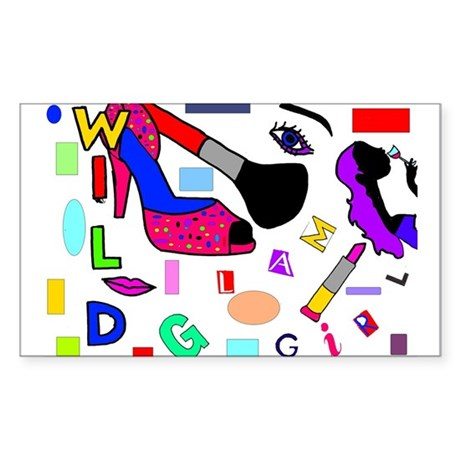 Glam Rectangle Sticker