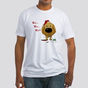 Golden Retriever Santa Fitted T-Shirt