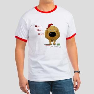 Golden Retriever Santa Ringer T