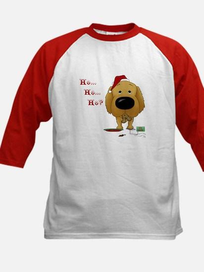 Golden Retriever Santa Kids Baseball Jersey