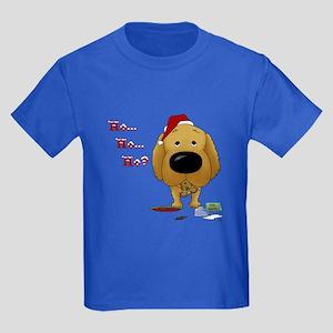 Golden Retriever Santa Kids Dark T-Shirt