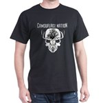 Camo Nation Deer Hunting Skull Dark T-Shirt