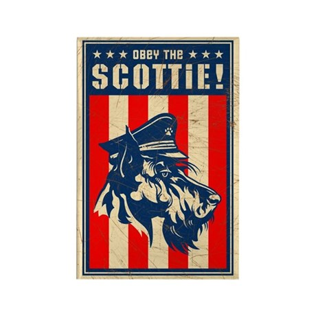 Obey the SCOTTIE! USA Scottish Terrier Magnet