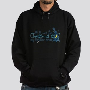 All I want ... Soldier home Hoodie (dark)