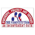 An Inconvenient Oath Rectangle Sticker