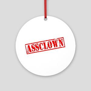 Assclown Stamp Ornament (Round)