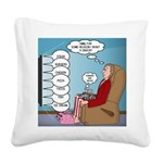 Food Commercials Square Canvas Pillow