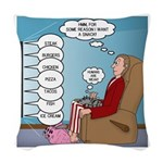 Food Commercials Woven Throw Pillow