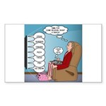 Food Commercials Sticker (Rectangle 10 pk)