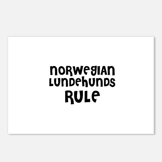 NORWEGIAN LUNDEHUNDS RULE Postcards (Package of 8)