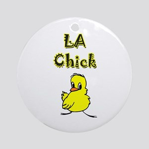 Crystal Chick Ornament (Round)