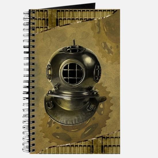 Steampunk, Diving helmet antique Journal