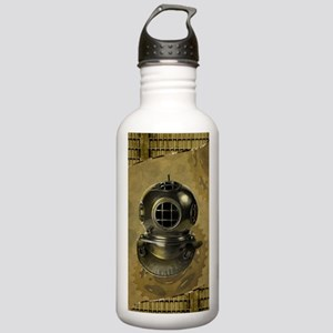 Steampunk, Diving helmet antique Water Bottle