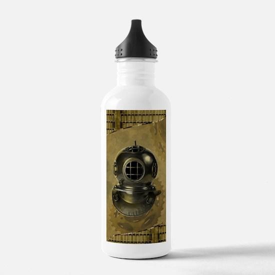 Steampunk, Diving helmet antique Water Bottle