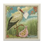 Baby Girl Birth Announcement Tile Coaster